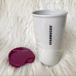 RARE ✨ NEW Starbucks Tumbler Ceramic Fuchsia Cup